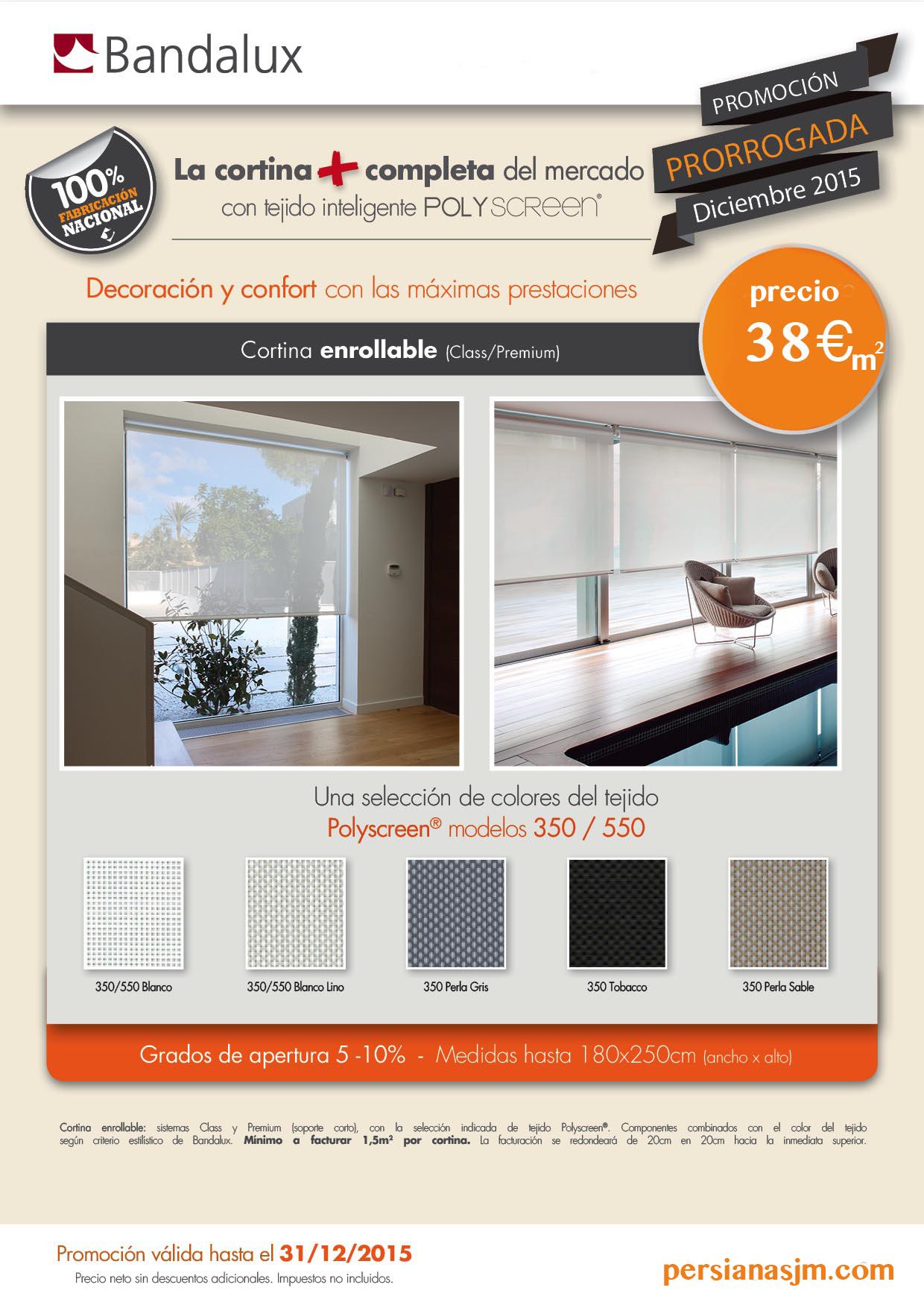 Promoci n bandalux persianas jm for Precios cortinas bandalux